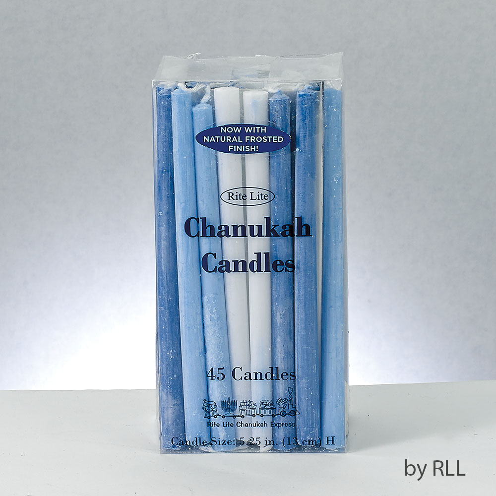Chanukah Candles 45 Hanukkah Candles, Frosted Blue, Light Blue ...